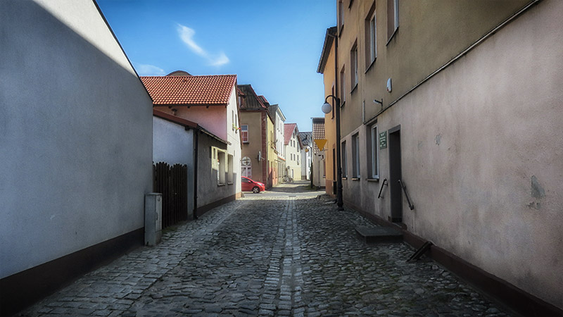 Ulica Rybacka w Złotowie. Złotów zdjęcia miasta.