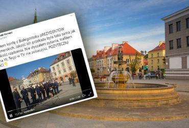 Pytania o dymisję prezydentów największych miast zepsuły konferencję w Białymstoku?